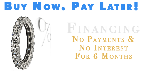 0% financing. No payments and no interest for six months.