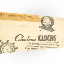 Chelsea Clock advertising