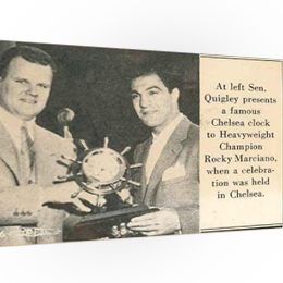 Mariner Clock presented to Rocky Marciano