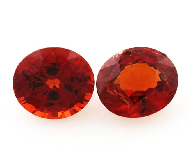 orange garnet loose Gemstone