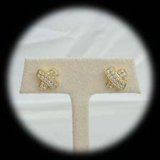 A pair of 18kt gold