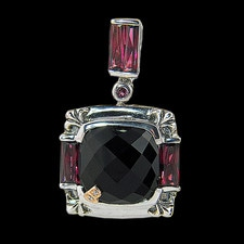 Bellarri Bellarri black onyx and rhodolite pendant