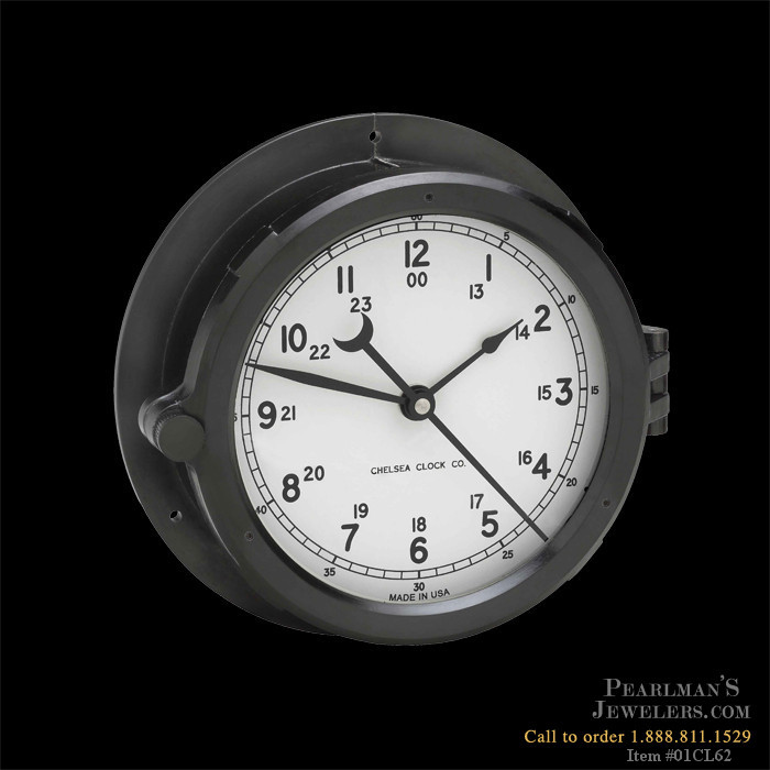 Chelsea Clock Patriot Deck Clock Black Dial