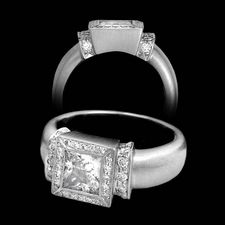 Chris Correia platinum pave diamond princess cut ring
