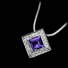 Chris Correia platinum diamond and tanzanite pendant.