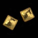 Gurhan's 24K pure gold square amulet earrings 9 x 9mm with post backs. Also available in 6mm, 12mm, 15mm and 20mm sizes.