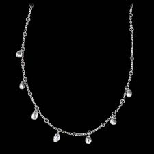 A gorgeous and delicate platinum, diamond briolette necklace by William Levine. This design is available in a variety of diamond sizes. There are 5.75ctw of diamonds in this piece.