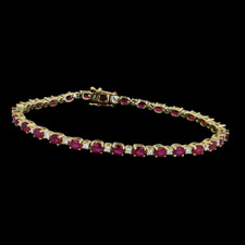 Spark 18k Alternating ruby and diamond bracelet
