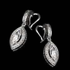 Alex Soldier Platinum /18kt white gold dangle earrings for marquise