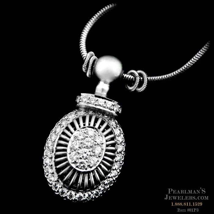 Michael b jewelry platinum diamond pendant for Michael b s jewelry