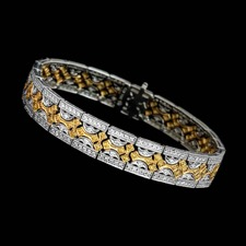 Beverley K 18kt white & yellow gold white  yellow diamond bracelet