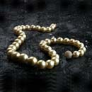 Golden south sea pearls with diamonds in the clasp
