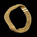 Yuri Ichihashi's 18kt yellow gold braided 14-strand bracelet. Also available in a wider 19mm version.