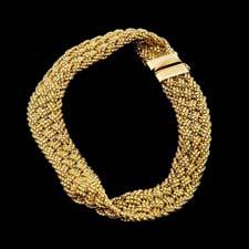 Yuri Ichihashi 18 Kt Gold Braided Bracelet