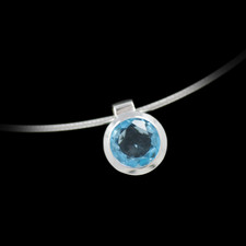 Bastian Inverun Sterling silver and blue topaz pendant