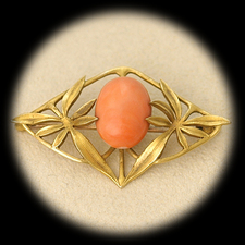 Estate Jewelry Angel Skin Coral Pin