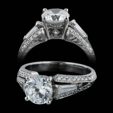 Michael Beaudry platinum split shank engagement ring