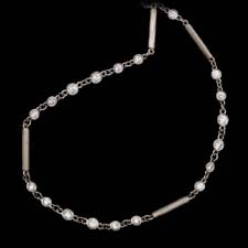 Michael Beaudry platinum and diamond necklace 16