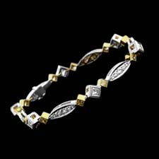 Michael Beaudry fancy yellow and white diamond bracelet