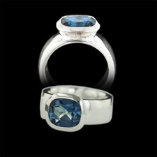 Bastian Inverun Sterling silver London blue topaz ring