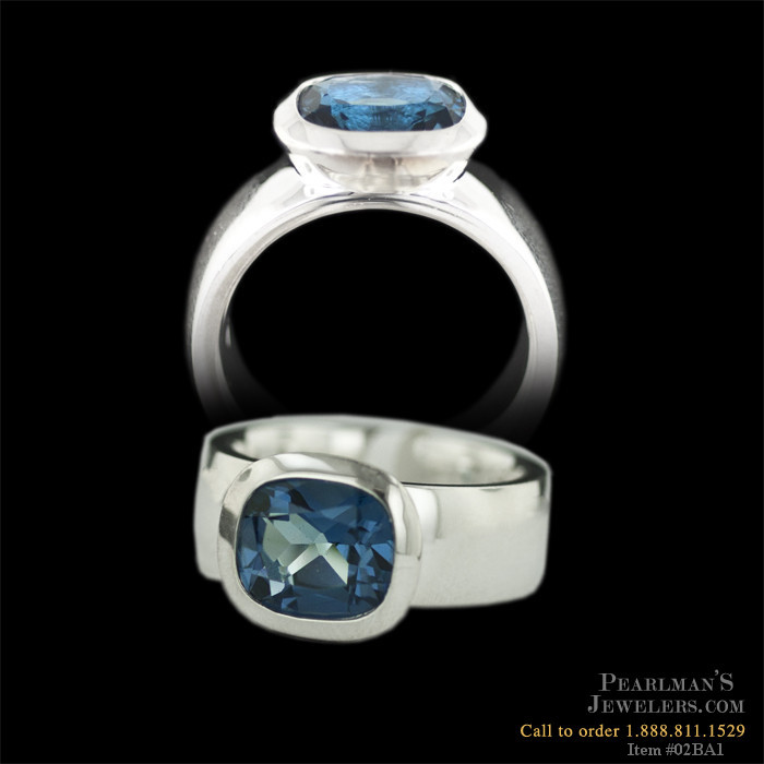 Bastian Inverun Jewelry Sterling Silver London Blue Topaz Ring