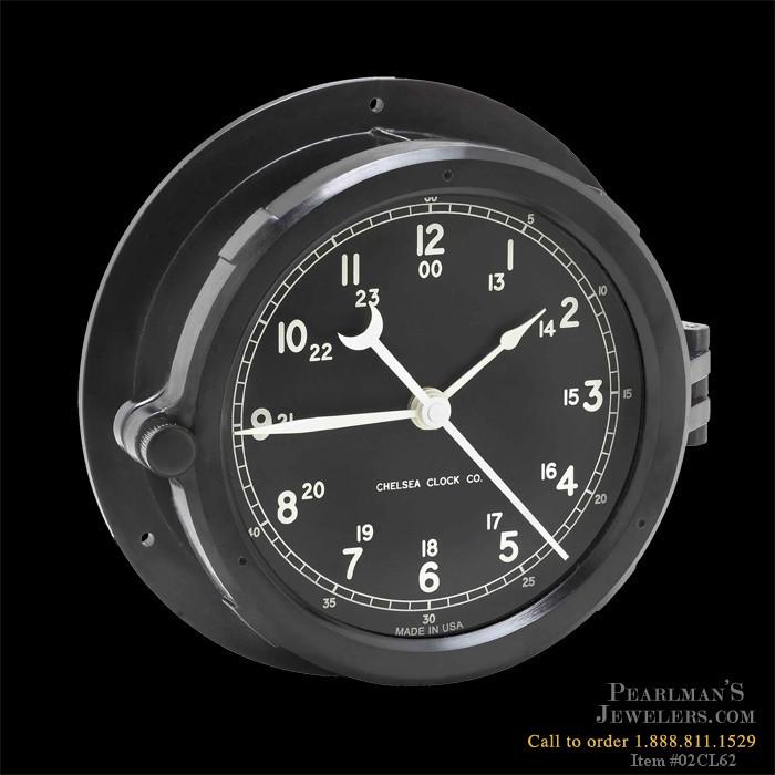 Chelsea Clocks Jewelry Patriot Deck Clock Black Dial