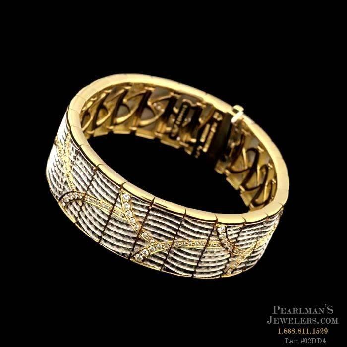 Michael Bondanza 18kt And Platinum Venti Bracelet