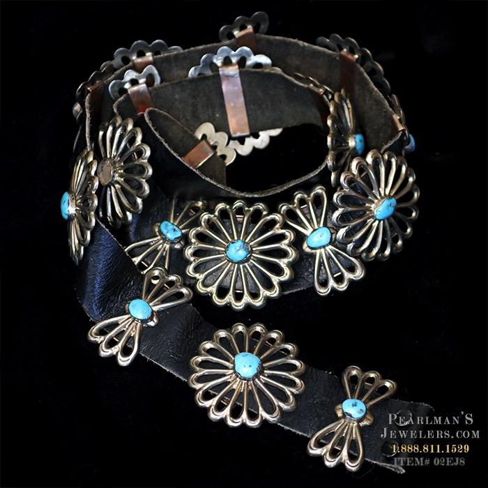 Estate Jewelry Navajo Silver Concho Belt