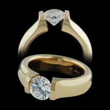 Steven Kretchmer 18k tension set gold engagement ring