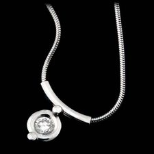 Whitney Boin platinum Post Collection pendant with snake chain and .50ctw of diamonds.
