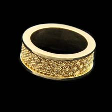 Yuri Ichihashi 18kt yellow gold 8mm woven wedding band