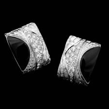 An exotic pair of platinum and diamond Savannah hoop earrings by Michael Bondanza, set with .72ct of diamonds.