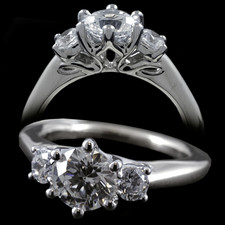 Harout R 18k white gold engagement ring