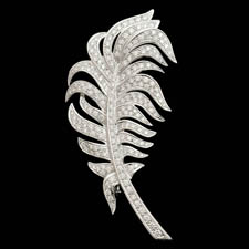 Gumuchian Gumuchian 18kt Diamond Feather Brooch