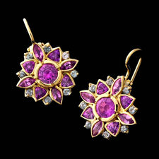 Jane Taylor Gold purple sapphire earrings