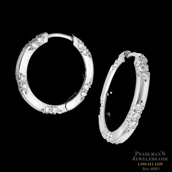 Michael b jewelry platinum lace collection hoop earrings for Michael b s jewelry