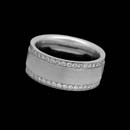 Designed by Christian Bauer, this wonderful 8.5mm 14K white gold diamond wedding band is set with 82 diamonds, .76ctw.  Also available in platinum and 18kt gold.