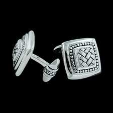 Scott Kay Sterling square basket weave cuff links.