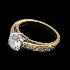 Michael Beaudry 18k yellow and white gold ring