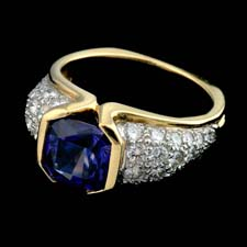 Pearlman's Collection tanzanite and diamond ring