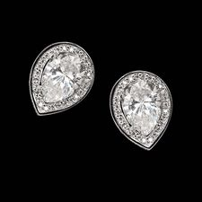 Alex Soldier Platinum 18kt white gold tear drop earring