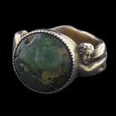 A 14kt gold turquoise ''Erotica'' ring. This ring is circa 1870's and very graphic in nature.  Additional pics will be available upon request. The ring is 13mm x 9.5mm x 7.5mm and weighs 13 grams. This is a very rare piece and I have never encountered this in my 46 years. Excellent shape size 9 1/4
