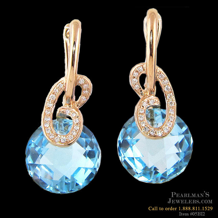 Bellarri Bellarri Blue Topaz Diamond Earrings