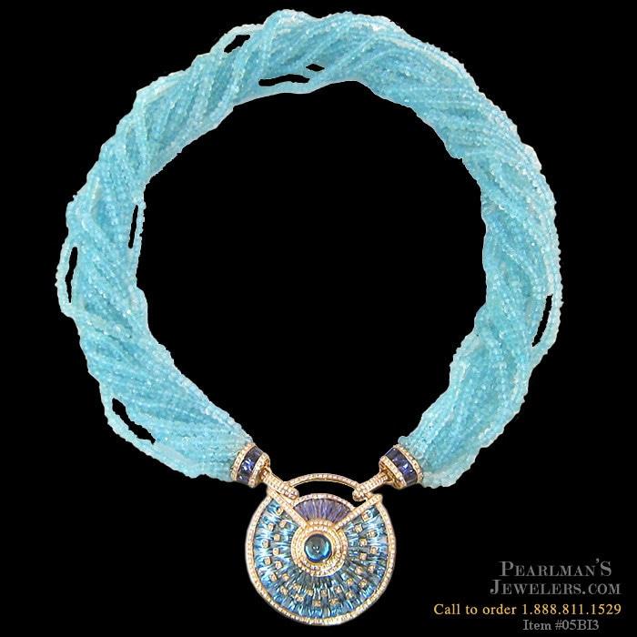 bellarri jewelry blue topaz pendant