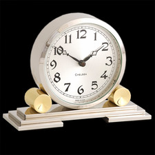 Chelsea Clocks Mayfair Clock in Brass & Nickel