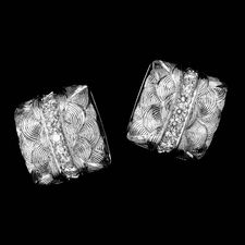 A beautiful pair of platinum Veronica square earrings from Michael Bondanza, set with 1.03ct of diamonds.