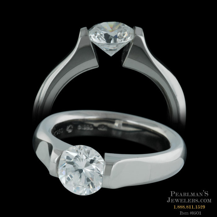 Steven Kretchmer Tension Set Omega Engagement Ring