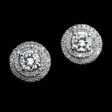Michael B. Michael B Platinum Diamond Earrings