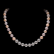 Robert Golden Multi colored pearl necklace