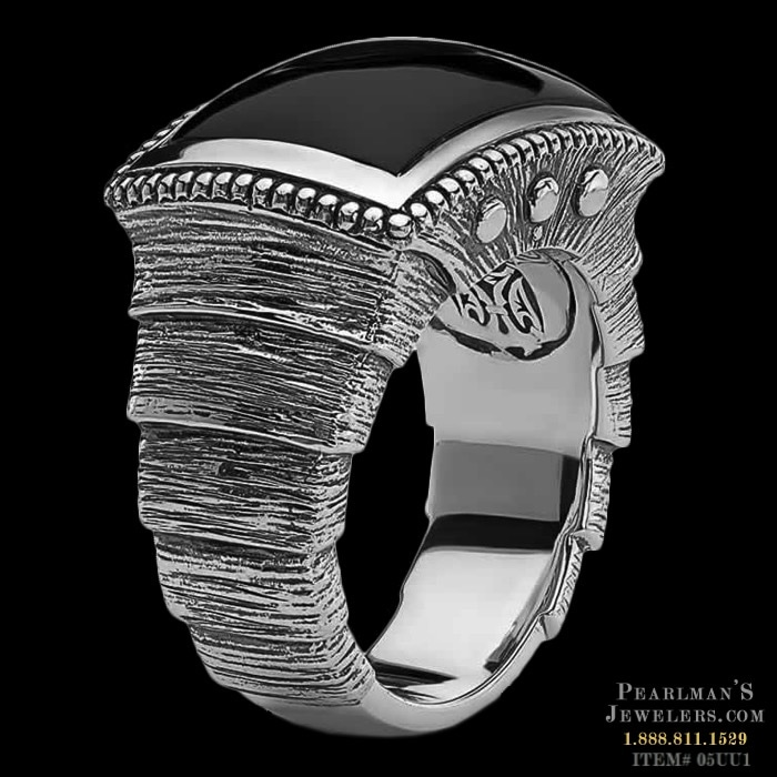 Scott Kay For Men Jewelry Samurai Black Onyx Silver Ring